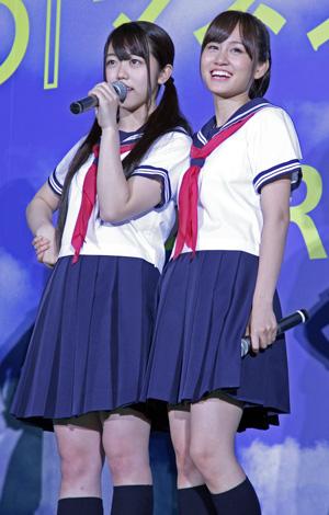 前田と峰岸は壇上でも手つなぎ、映画『もしドラ』完成披露イベントにてcJulie Minami