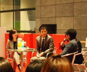 妻夫木聡(中央)、第16回釜山国際映画祭にて