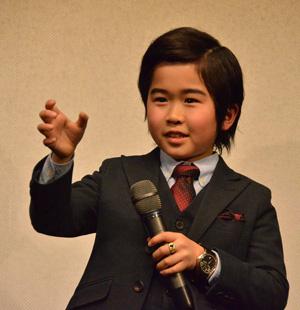 鈴木福くん、『コドモ警察』デカ長スーツ姿でゆうばり映画祭へ