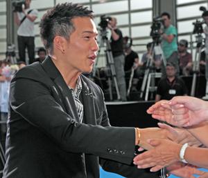 映画『DOG×POLICE 純白の絆』完成披露イベント&舞台挨拶にて、他3枚。撮影:南樹里