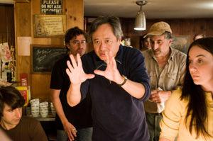 『ウッドストックがやってくる!』撮影中のアン・リー監督c2009 Focus Features LLC.  All Rights Reserved.
