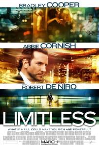 アラン・グリンの小説を映像化したサスペンス映画『リミットレス』(原題)のポスター