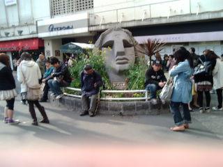 渋谷モアイ像