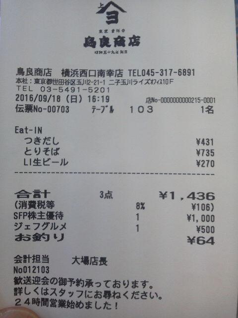 鳥良商店16091812