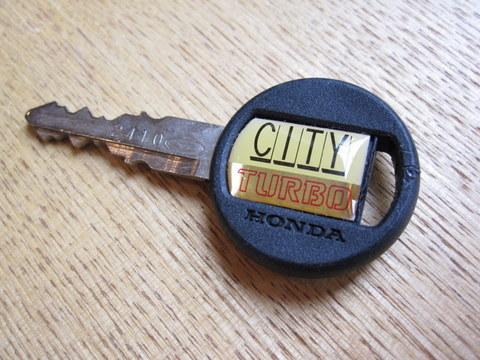 ホンダシティターボの鍵