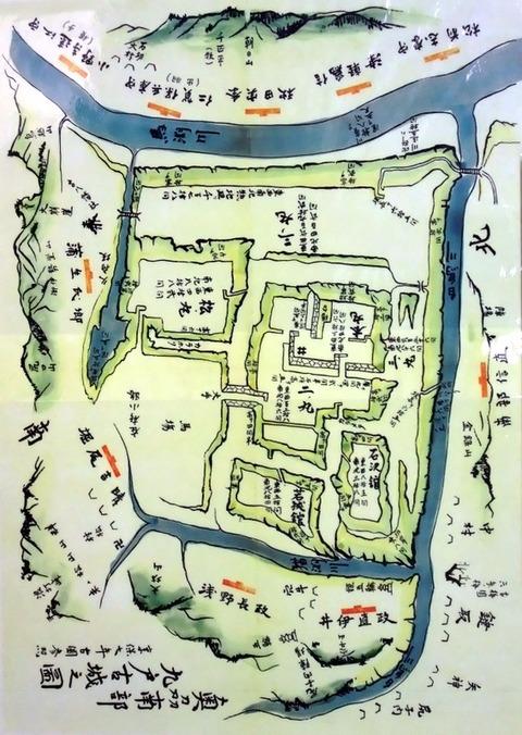 九戸城の図