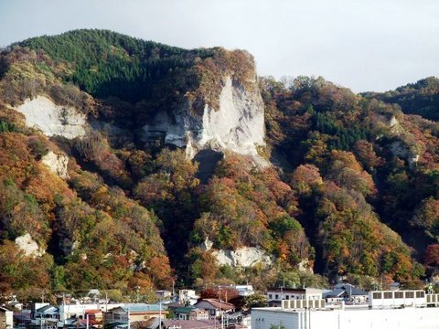 大崩崖の紅葉