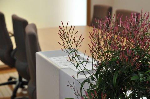 加湿器と花