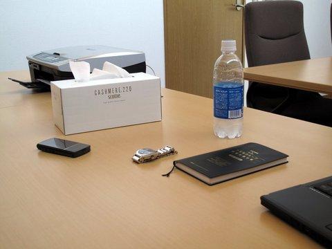 社長の机の上