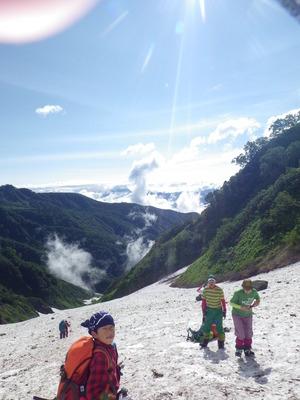 大雪渓 快晴