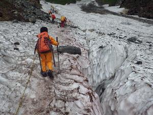大雪渓クレバス