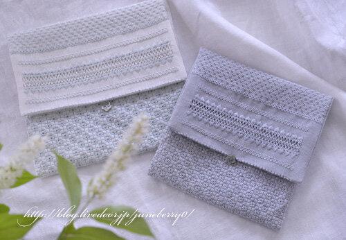 アジュール刺繍のフラットポーチUさん01blog