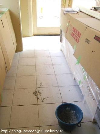 キッチン床タイル02