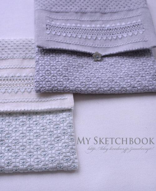 アジュール刺繍のフラットポーチUさん02blog