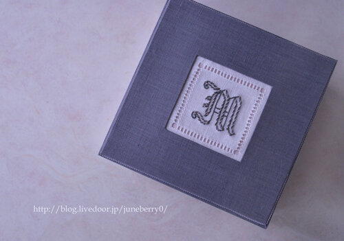 イニシャル刺繍とカルトナージュMさん02web