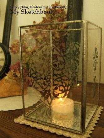 ガラスエッチングのキャンドルホルダー02