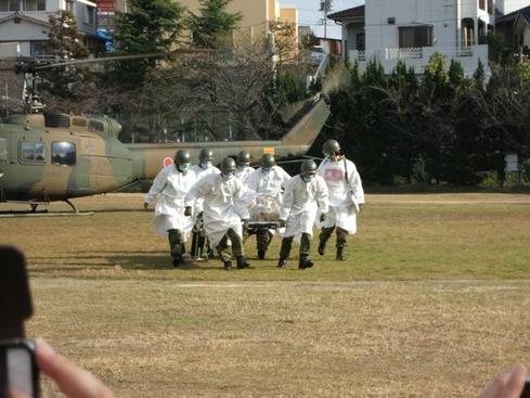 ヘリ移送患者受け入れ訓練1