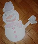 福笑い雪ダルマ