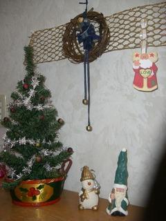 クリスマス飾りツリーとサンタ
