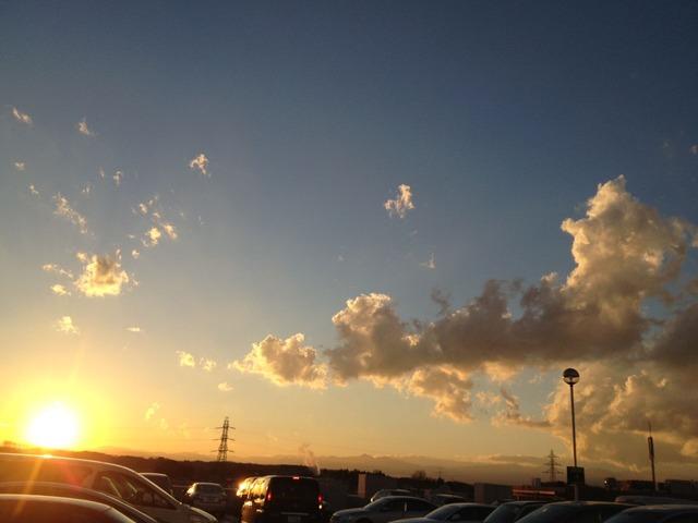 2012年12月年大晦日の夕日(マミーマートから)
