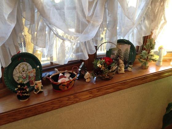 出窓のクリスマス飾り1