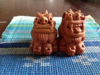 2012,3 沖縄土産 シーサー ミンサー織