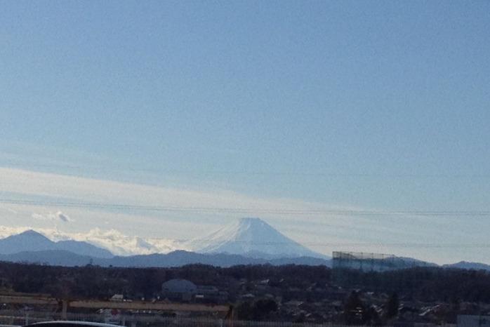 2013年お正月の富士山2(マミーマート)