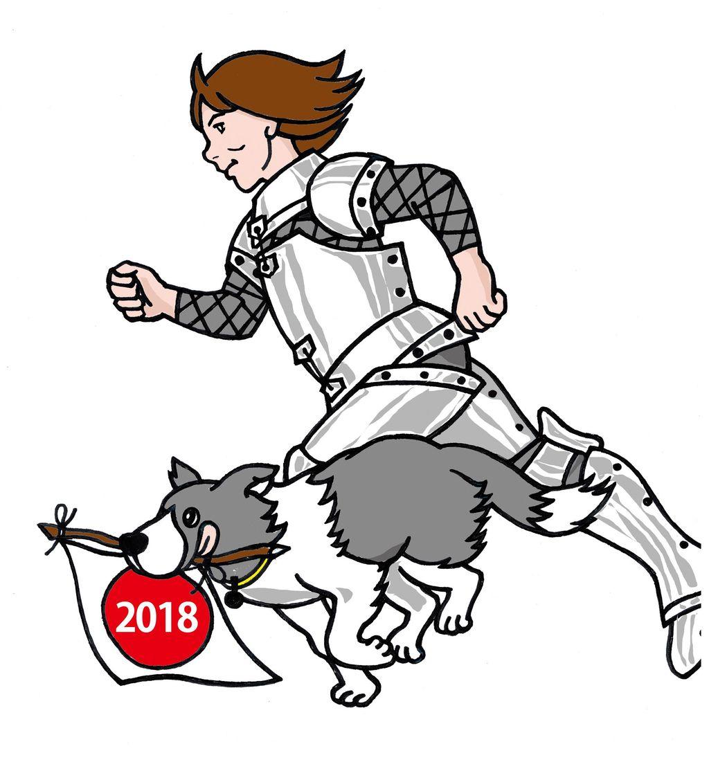 ジャンヌ年賀用 戌年版2018