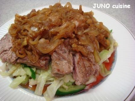☆豚ロース肉の野菜たっぷりステーキ☆
