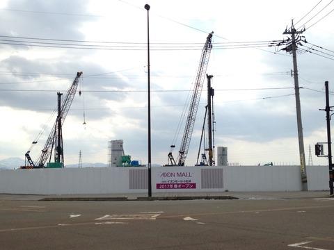 【経過観察】小松市内イオン建設現場(平成28年2月)