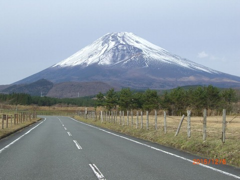 富士山資料館裏より20151206