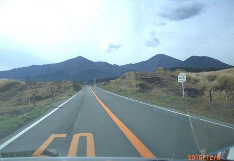 富士南麓道路草原より愛鷹山塊