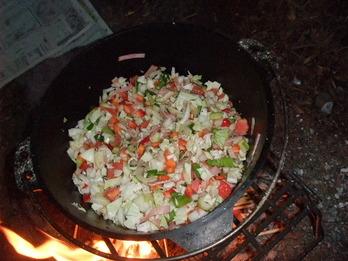 野菜スープスパ