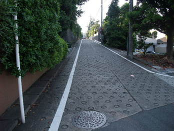 東京日産ドライビングカレッジの中の坂