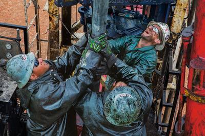 天然ガス掘削作業員