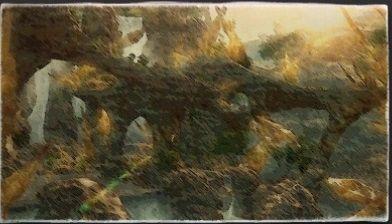 イラスト画:バーガンディ滝