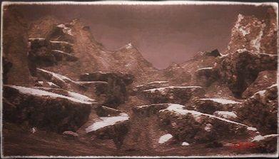 風景画:スノークローク大氷壁