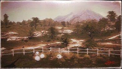 風景画:レッドルースター農場の畑