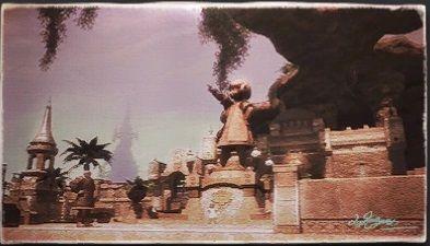 風景画:ベスパーベイのロロリト像