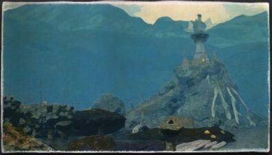 油彩画:イクサル軍伐採所