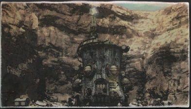 水彩画:狼煙の丘
