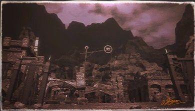 風景画:アマジナ霊銀山跡
