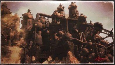 風景画:ウ・ガマロ武装鉱山