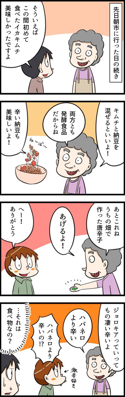 キムチ屋さんから貰ったハバネロより辛い唐辛子