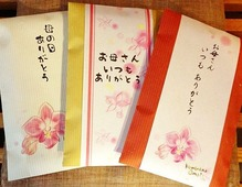 母の日平袋・花掛け紙