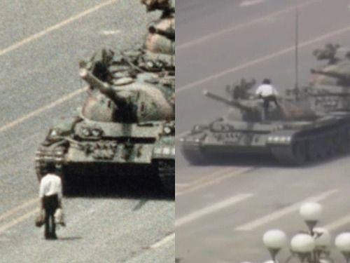 「天安門の戦車の男って映像があったのか…戦車の上にまで乗ってたなんて!」海外の反応