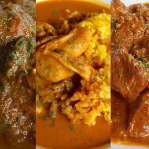宜野湾「隠れ家レストラン KOBA」で3種(ほうれん草、牡蠣、ラム)のカレーを食べ比べ