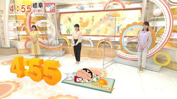 【画像】今日の新井恵理那さんと島本真衣さんと森山みなみさんと森千晴さん 6.11