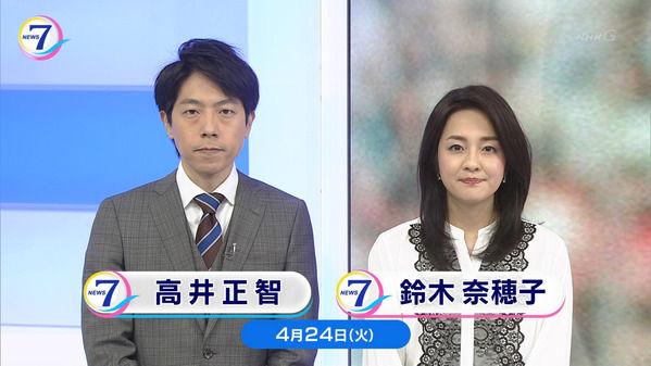 【画像】今日の鈴木奈穂子さん 4.24