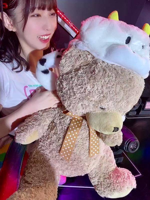 【堺萌香】親友のくまと動画